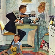 Marmont HIll 'Dewey V. Truman' by Norman Rockwell Painting Print on Wrapped Canvas; 32'' H x 32'' W