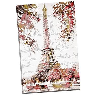 Portfolio Canvas Paris Springtime by Finchley Paper Arts Painting Print on Wrapped Canvas