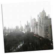 Portfolio Canvas Above Central Park by Noah Bay Photographic Print on Wrapped Canvas