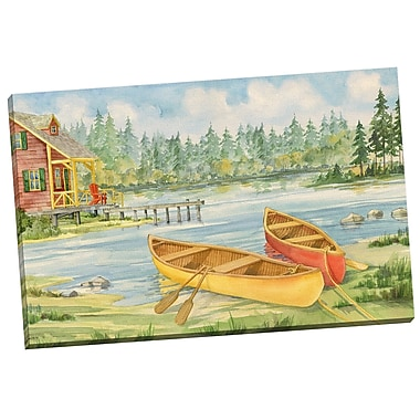 Portfolio Canvas Canoe Camp by Paul Brent Painting Print on Wrapped Canvas