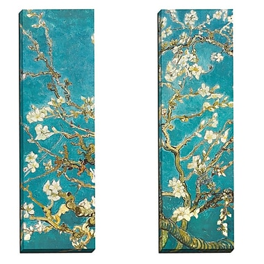 Portfolio Canvas Almond Blossom Panel I by Van Gogh 2 Piece Painting Print on Wrapped Canvas Set
