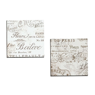 Portfolio Canvas Bon Mots I by Mindy Sommers 2 Piece Textual Art on Wrapped Canvas Set