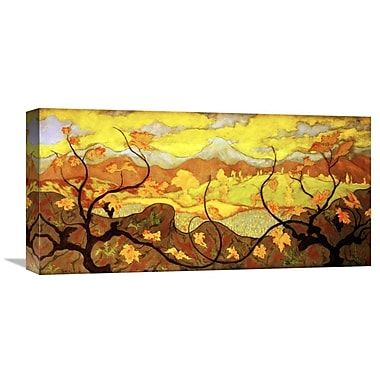 Global Gallery The Vines by Paul Ranson Painting Print on Wrapped Canvas; 11'' H x 22'' W x 1.5'' D