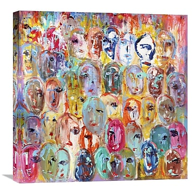 Global Gallery Facebook by Italo Corrado Painting Print on Wrapped Canvas; 24'' H x 24'' W x 1.5'' D