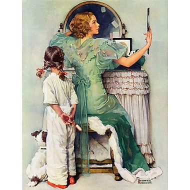 Marmont HIll 'Going Out' by Norman Rockwell Painting Print on Wrapped Canvas; 52'' H x 40'' W