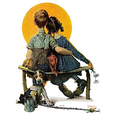 Marmont HIll 'Sunset' by Norman Rockwell Painting Print on Wrapped Canvas; 52'' H x 40'' W
