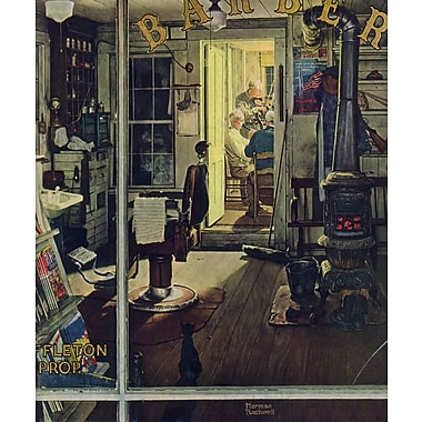 Marmont HIll 'Shuffleton?S Barbershop' by Norman Rockwell Painting Print on Wrapped Canvas