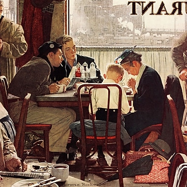 Marmont HIll 'Saying Grace' by Norman Rockwell Painting Print on Wrapped Canvas; 40'' H x 40'' W