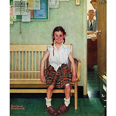 Marmont HIll 'Shiner' by Norman Rockwell Painting Print on Wrapped Canvas; 48'' H x 40'' W
