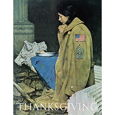 Marmont HIll 'Refugee Thanksgiving' by Norman Rockwell Painting Print on Wrapped Canvas