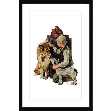 Marmont HIll 'Raleigh Rockwell' by Norman Rockwell Framed Painting Print; 18' H x12'' W