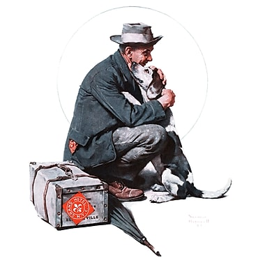 Marmont HIll 'Pals' by Norman Rockwell Painting Print on Wrapped Canvas; 36'' H x 30'' W