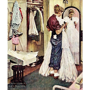 Marmont HIll 'Prom Dress' by Norman Rockwell Painting Print on Wrapped Canvas; 36'' H x 30'' W