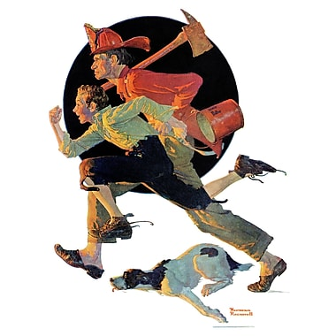 Marmont HIll 'To The Rescue' by Norman Rockwell Painting Print on Wrapped Canvas; 52'' H x 40'' W