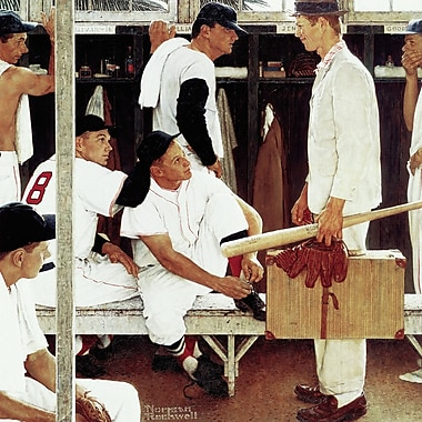 Marmont HIll 'The Rookie' by Norman Rockwell Painting Print on Wrapped Canvas; 18'' Hx 18'' W