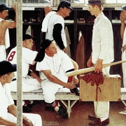 Marmont HIll 'The Rookie' by Norman Rockwell Painting Print on Wrapped Canvas; 48'' H x 48'' W