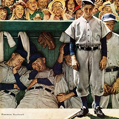 Marmont HIll 'The Dugout' by Norman Rockwell Painting Print on Wrapped Canvas; 32'' H x 32'' W