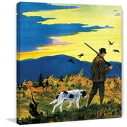 Marmont HIll Duck Hunter and Dog by Paul Bransom Painting Print on Wrapped Canvas