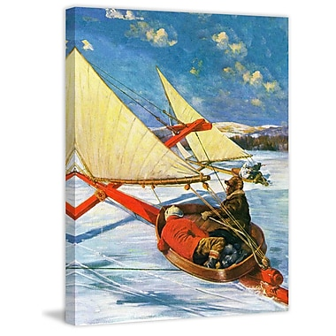 Marmont HIll Ice Boating by Anton Otto Fischer Painting Print on Wrapped Canvas