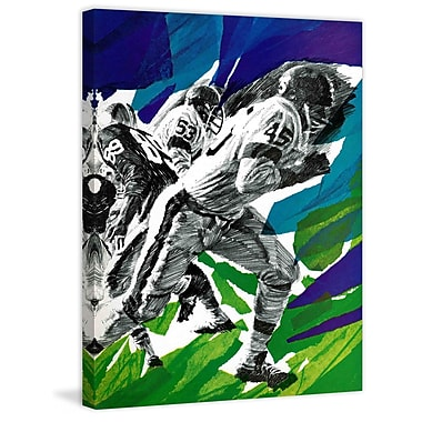 Marmont HIll Inside Pro Football by Paul Calle Painting Print on Wrapped Canvas