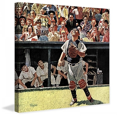 Marmont HIll Yogi Berra by Earl Mayan Painting Print on Wrapped Canvas; 18'' H x 18'' W x 1.5'' D