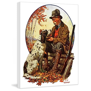 Marmont HIll Hunter and Spaniel by J.F. Kernan Painting Print on Wrapped Canvas