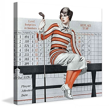 Marmont HIll Novice Golfer by Coles Phillips Painting Print on Wrapped Canvas