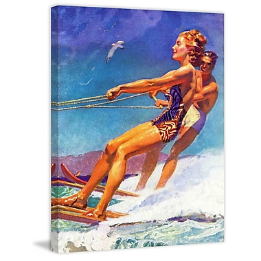 Marmont HIll Water Skier by McClelland Barclay Painting Print on Wrapped Canvas