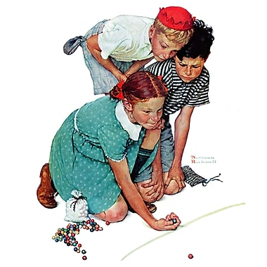 Marmont HIll 'Marbles Champ' by Norman Rockwell Painting Print on Wrapped Canvas; 36'' H x 30'' W