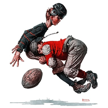Marmont HIll 'Fumble' by Norman Rockwell Painting Print on Wrapped Canvas; 32' H x 32' W