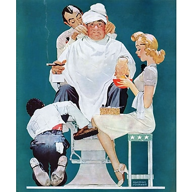 Marmont HIll 'Full Treatment' by Norman Rockwell Painting Print on Wrapped Canvas; 36'' H x 30'' W