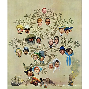 Marmont HIll 'Family Tree' by Norman Rockwell Painting Print on Wrapped Canvas; 48'' H x 40'' W