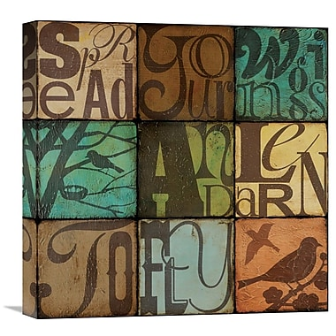 Global Gallery Wings by Suzanna Anna Graphic Art on Wrapped Canvas; 18'' H x 18'' W x 1.5'' D