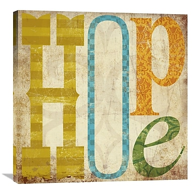 Global Gallery Hope by Suzanna Anna Graphic Art on Wrapped Canvas; 30'' H x 30'' W x 1.5'' D
