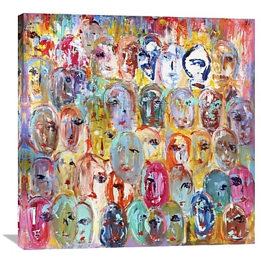 Global Gallery Facebook by Italo Corrado Painting Print on Wrapped Canvas; 36'' H x 36'' W x 1.5'' D