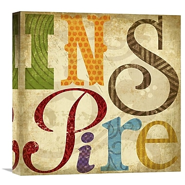 Global Gallery Inspire by Suzanna Anna Graphic Art on Wrapped Canvas; 18'' H x 18'' W x 1.5'' D