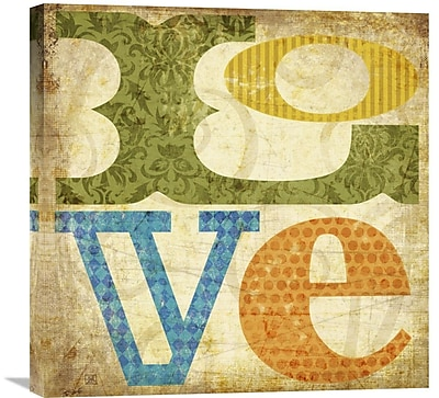Global Gallery Love by Suzanna Anna Graphic Art on Wrapped Canvas; 24'' H x 24'' W x 1.5'' D