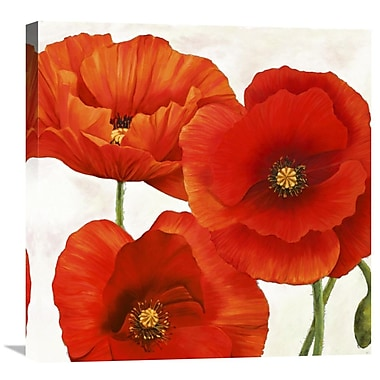Global Gallery Poppies I by Luca Villa Painting Print on Wrapped Canvas; 24'' H x 24'' W x 1.5'' D