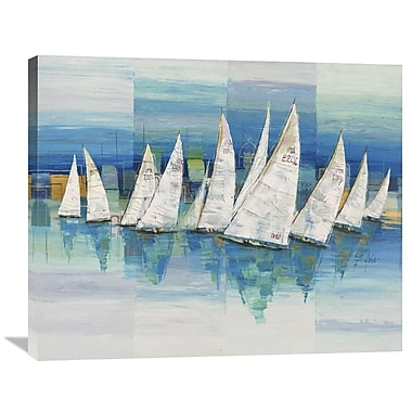 Global Gallery Oceano by Luigi Florio Painting Print on Wrapped Canvas; 28'' H x 35'' W x 1.5'' D