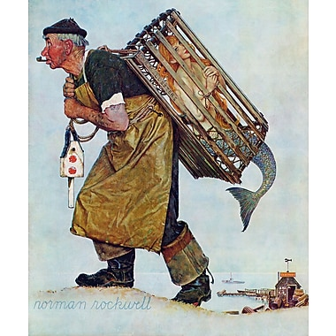 Marmont HIll 'Mermaid' by Norman Rockwell Painting Print on Wrapped Canvas; 36'' H x 30'' W