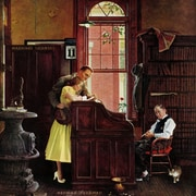 Marmont HIll 'Marriage License' by Norman Rockwell Painting Print on Wrapped Canvas; 48'' H x 48'' W