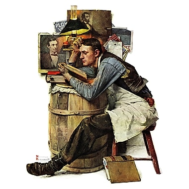 Marmont HIll 'Law Student' by Norman Rockwell Painting Print on Wrapped Canvas; 39'' H x 30'' W