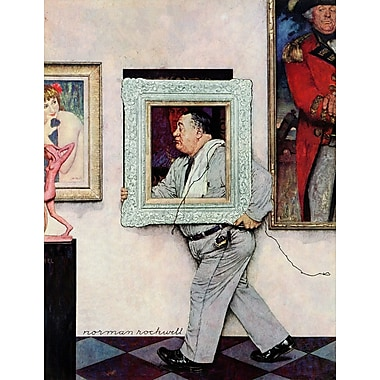 Marmont HIll 'Museum Worker' by Norman Rockwell Painting Print on Wrapped Canvas; 39'' H x 30'' W