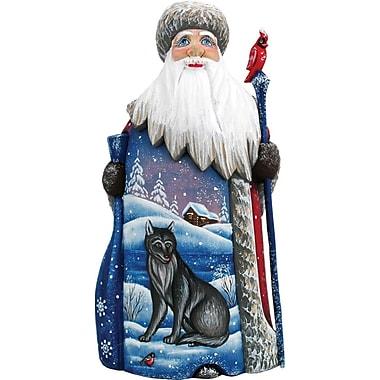 G Debrekht Masterpiece Wolf and Bird Santa Figurine