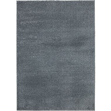 Ottomanson NEW Shag Solid Grey Area Rug; 3'3'' x 4'7''