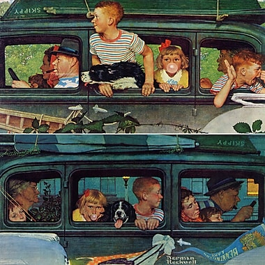 Marmont HIll 'Coming And Going' by Norman Rockwell Painting Print on Wrapped Canvas; 48'' H x 48'' W