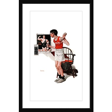 Marmont HIll 'Champ' by Norman Rockwell Framed Painting Print; 24'' H x 16'' W x 1.5'' D