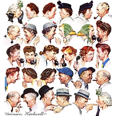 Marmont HIll 'Chain Of Gossip' by Norman Rockwell Painting Print on Wrapped Canvas; 32'' H x 32'' W