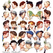 Marmont HIll 'Chain Of Gossip' by Norman Rockwell Painting Print on Wrapped Canvas; 18'' H x 18'' W