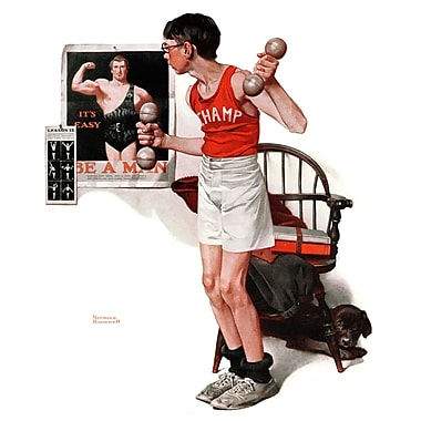 Marmont HIll 'Champ' by Norman Rockwell Painting Print on Wrapped Canvas; 29'' H x 24'' W